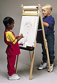 Child Easel Ln Child Easel With Stool With Child Easel